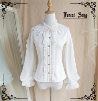 Forest Song ~Rose Letterhead~ Winter Lolita Blouse -Pre-order