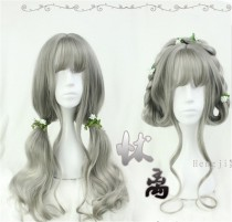 Vintage Gray Long Curls Lolita Wig - In Stock