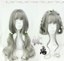Vintage Gray Long Curls Lolita Wig