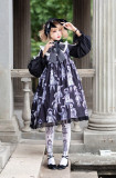 Antique Paper Doll~ Black  Lolita OP Long Sleeves New Version  - Pre-order
