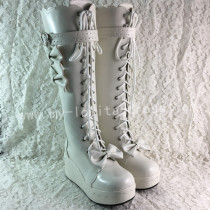 Sweet White Lolita Winter Boots