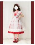 Dessin Robe ~Big Strawberry~ Sweet Printed Lolita JSK -Ready Made