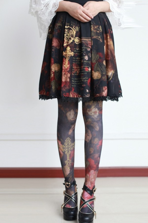 Neverland Lolita ~The Maiden in the Garden~ Lolita Tights