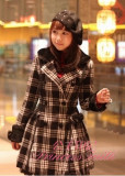 Classic White Black Gingham Lolita Jacket with Detachable Cape