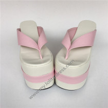 Sweet Pink with white Lolita Sandals