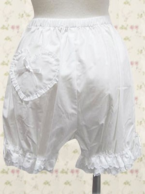 White Heart Lolita Knickers