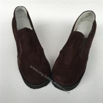 High Platform Coffee Velvet Lolita Shoes
