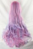Cute Pink Blue Purple Curls Lolita Wig