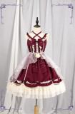 Halter Neckline Classic Lolita Jumper Dress -out