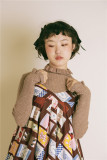 Sweet Unicolor Slim Knit Sweater
