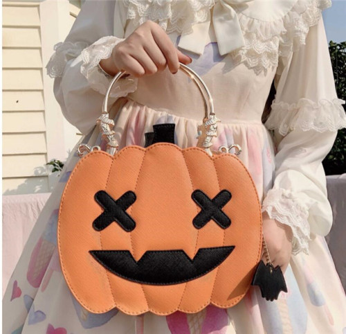 Morning Glory ~Halloween Pumpkin Lolita Bag -Ready Made