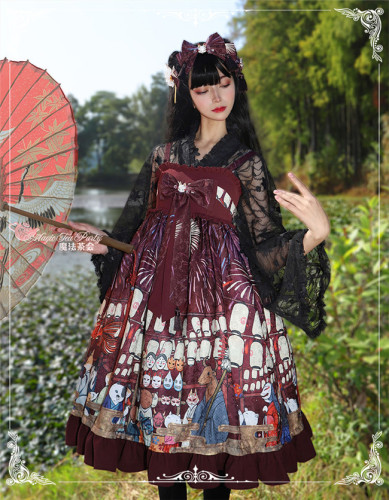 Magic Tea Party ~Kimono Style Lolita JSK -Ready made