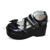 Black High Platform Lolita Shoes