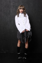 Gothic High Collar Long Sleeves Buttons Cotton Lolita Shirt