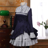 2017 Vintage Lolita Long Sleeves OP+Inner Skirt Set