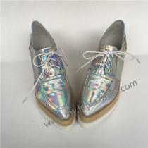 Sweet Glossy Silver Lolita High Platform