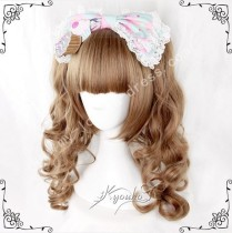 Princess Saddle Brown Face Framing Wig 2 Ponytails