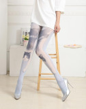 Japanese Grimoire Sweet Cats Prints Lolita Tights -Clerance