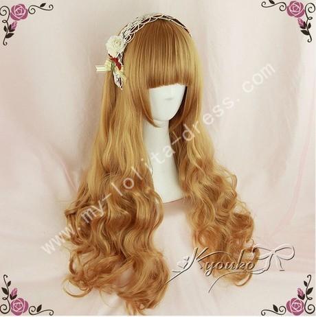 Goldenrod Curls Lolita Wig 70cm long
