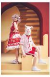 Dessin Robe ~Big Strawberry~ Color Split Lolita JSK -Ready Made