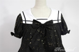 Constellation Kindergarten~Gold-staping Chiffon Lolita Sailor Collar OP Dress