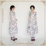 Antique Tea Party ~Sweet Printed Lolita Normal Waist JSK -Pre-order