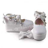 Sweet White Lolita High Platform