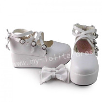 Sweet White Lolita High Platform