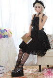 (Replica)Black Lace Bows Lolita Jumper In Stock