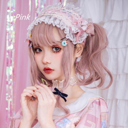 Milk Sweet heart~ Bud silk printing lolita headdress