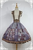 Neverland Lolita -Steampunk Cat- Lolita Salopette/Skirt  Gray Blue L IN STOCK