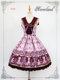 Chocolate Bear~ Lolita Printed JSK With Detachable Collar