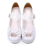 Angelic Imprint- Heart Shaped Embroidery -Sweet Lolita Shoes