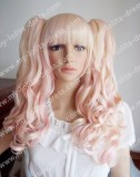 Blonde Pink Curly Shoulder Long Wig - In stock