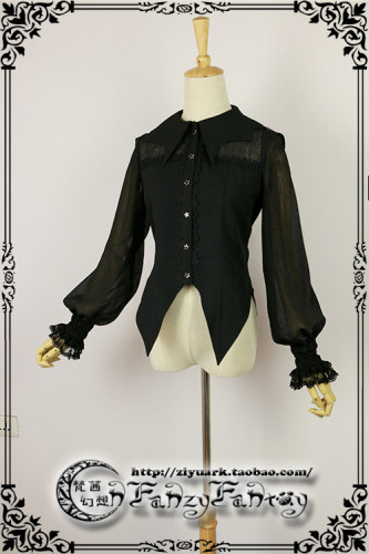 Fanzy Fantasy ~Cat Halloween Lolita Blouse -Ready Made