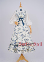 Lush Bouquet~ Classic Flower Printed Lolita Jumper