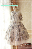 Dear Cline ~Pastorl Style Lolita Floral Dress -Ready Made