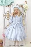 Little Dipper  ~Cat + Moon + Stars~ Embroidery Lolita Long Sleeves OP Dress - Ready Made