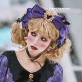 Miss Point ~Clown Daunting Night Black OP+Bat Hairclip+Corset+Overskirt+Collar In Stock