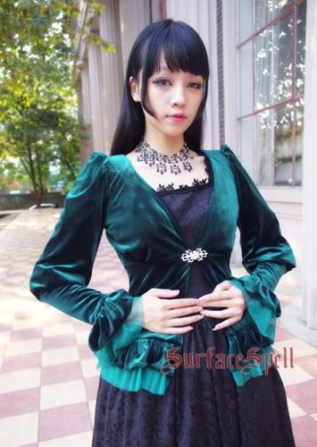 Surface Spell Lady In Black Velvet Cardigan
