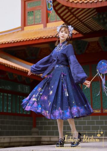 Ichigomikou ~Purple Delusion~ Top + Skirt Set -Ready Made