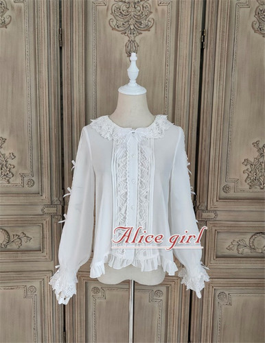 Alice Girl ~The Kitty's Tea Party Lolita Blouse -Pre-order