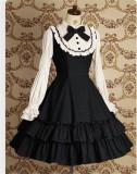 Vintage College Style Lolita Long Sleeves OP