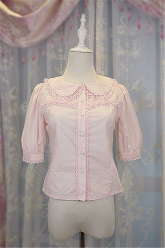 Daisy and Dandelion ~Sweet Lolita Medium Sleeves Blouse Beige XL In Stock