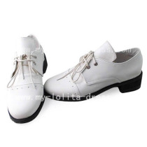 Beautiful White Black Butler Baron Shoes