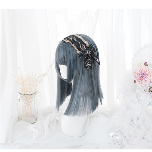 Hengji~ Straight Hair Girl~37cm Long Curls Lolita Wig
