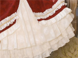 Little Red Riding Hood~ Vintage Lolita JSK + Cape Set ~Ready Made