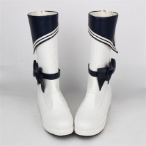 Angelic Imprint- Classic Sailor Style Lolita High Cylinder Boots with Removable Bow
