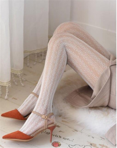 Elegant Vintage Lace Hollow-out Jacquard Lolita Tights