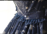 Lemon Honey ~Bear Constellation~ Fly Sleeves Printed Lolita JSK Black M In Stock
